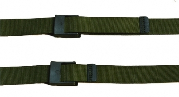 Centura militara 4 x125 cm,neagra, kaki, woodland - cu catarama plastic, Commando- Made in Germany